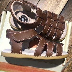 Livie & Luca Finn Mocha (brown) toddler sandal